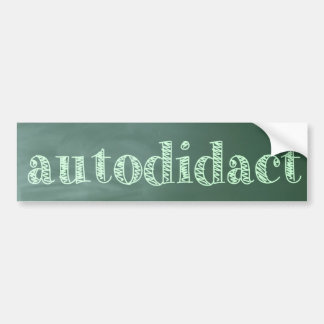 autodidact bumper sticker
