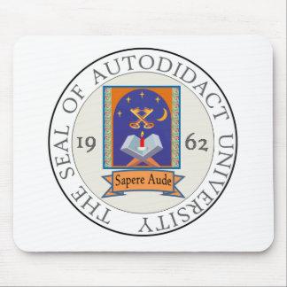 Autodidact University Seal Mouse Pad