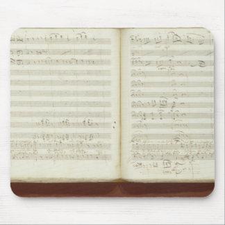 Autograph copy of 'The Magic Flute' Mouse Pad