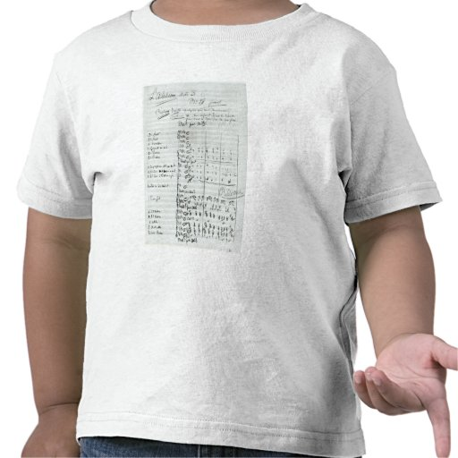 Autograph Score of Act III T Shirt