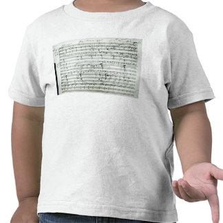 Autograph score of 'Fragment aus dem Tee Shirt