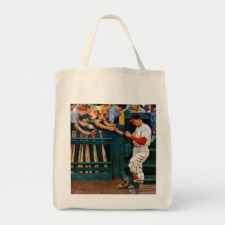 Autograph Session Grocery Tote Bag