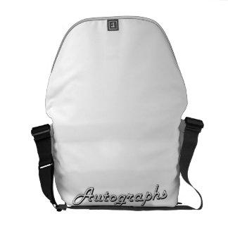 Autographs Classic Retro Design Messenger Bags