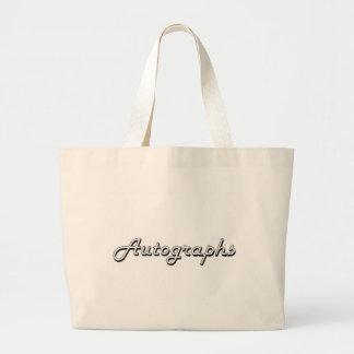 Autographs Classic Retro Design Jumbo Tote Bag