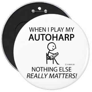 Autoharp Nothing Else Matters Pinback Buttons