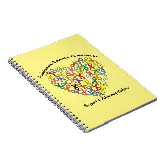Autoimmune Disease Awareness Heart Note Book