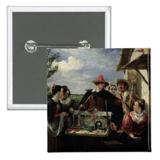 Autolycus, scene from 'A Winter's Tale', 1836 (oil 15 Cm Square Badge
