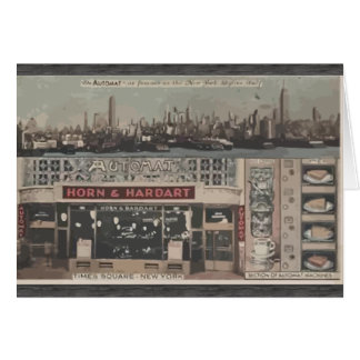 Automat Horn & Hardart Time Square New York, Vinta Greeting Card