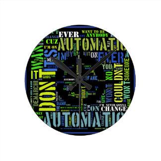 Automatic song lyrics text art design#4 clocks