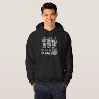 AUTOMOBILE MECHANIC HOODIE