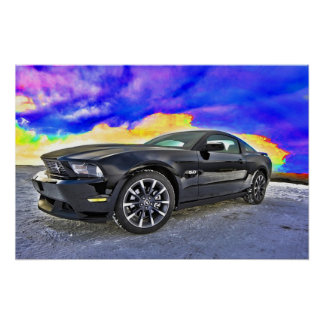 Automobile Muscle Car Mustang Poster