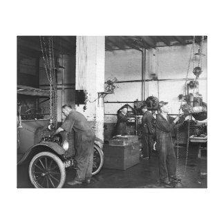 Automobile Repair Shop 1919 Canvas Print