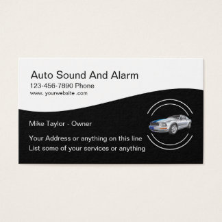 Automotive Alarm And Sound Systems Business Card