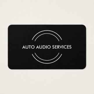 Automotive Audio Service Business Card