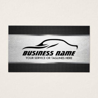 Automotive Auto Repair Cool Silver Professional Business Card