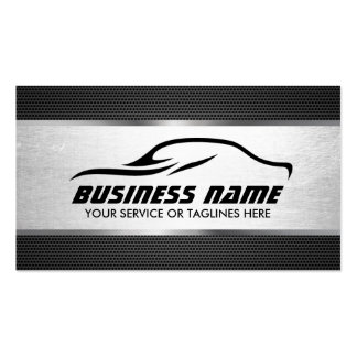 Automotive Auto Repair Cool Silver Professional Pack Of Standard Business Cards