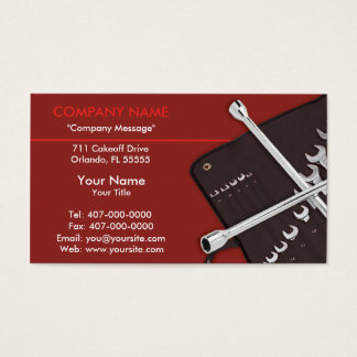 Automotive Car Repair Mechanic Business Card