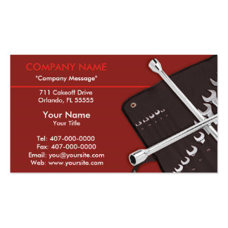 Automotive Car Repair Mechanic Pack Of Standard Business Cards