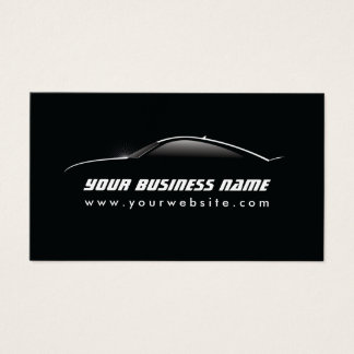 Automotive Cool Car Outline Auto Repair Business Card