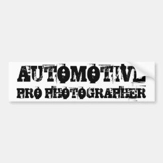 AUTOMOTIVE PRO PHOTOGRAPHER Bumper Sticker