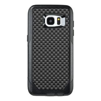 Automotive Style Black Carbon Fiber Print on a OtterBox Samsung Galaxy S7 Edge Case