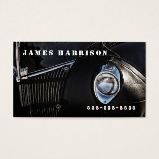 Automotive Themed Leather Chaps Classic Car Business Card
