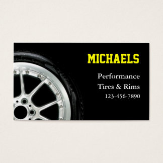 Automotive Tires and Rim Sales Business Card