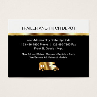 Automotive Trailers Business Cards