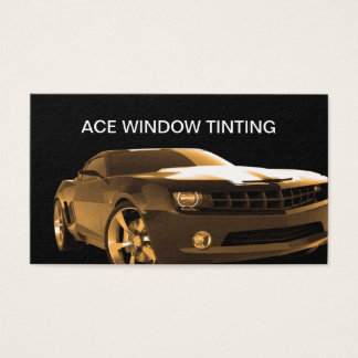 Automotive Window Tinting Business Card