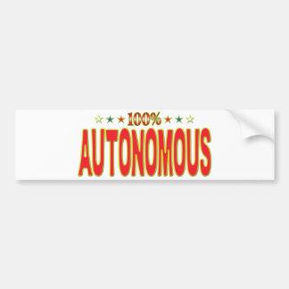 Autonomous Star Tag Bumper Sticker