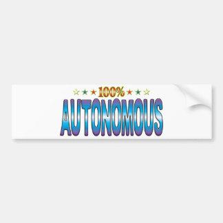 Autonomous Star Tag v2 Bumper Stickers