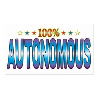 Autonomous Star Tag v2 Business Card Template
