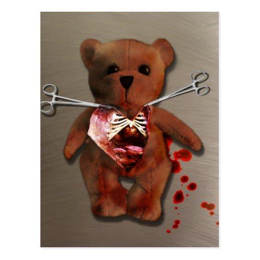 Autopsy of T. Bear Postcard