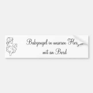 Autosticker baby angel in our hearts also at B Bumper Sticker