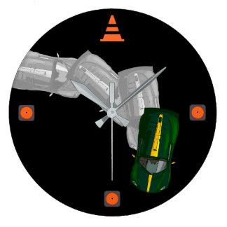 AUTOX-Green Large Clock