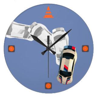 AUTOX-White Large Clock