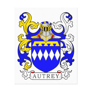 Autrey Coat of Arms Stretched Canvas Prints