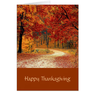 Autum Trees, Fall Scenery Thanksgiving Card