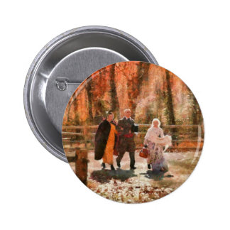 Autumn - A walk in the countryside Pinback Button