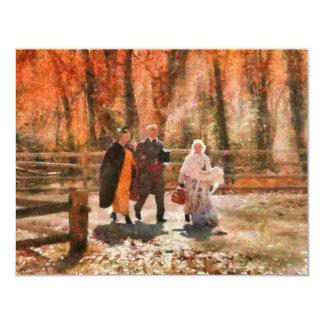 Autumn - A walk in the countryside 11 Cm X 14 Cm Invitation Card