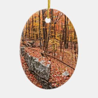 Autumn Above the Trail Ceramic Ornament