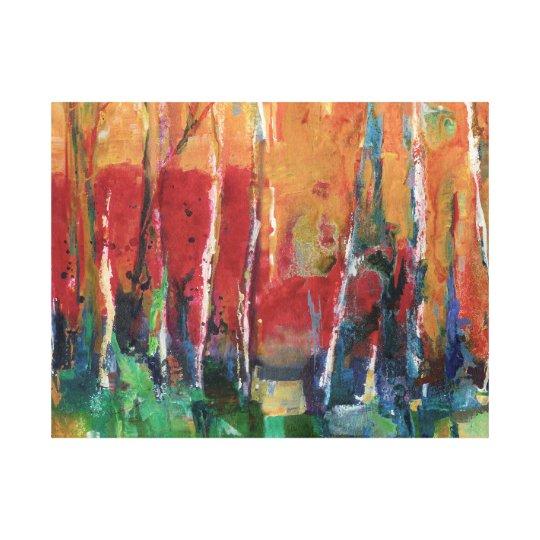 Autumn Abstract Landscape Art Painting Canvas Print