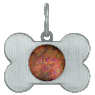 Autumn Abstract Pet Name Tag