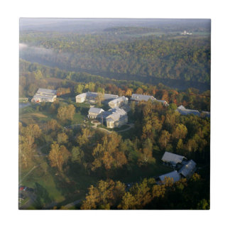 AUTUMN AERIAL OF THE NATIONAL CONSERVATION TRAININ SMALL SQUARE TILE