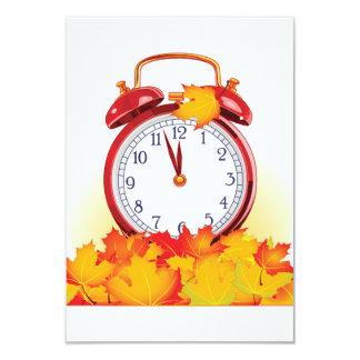 Autumn Alarm Clock Invitations