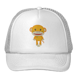 Autumn and Fall Retro Sock Monkey Trucker Hat