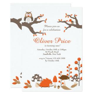 Autumn Animals Invitation
