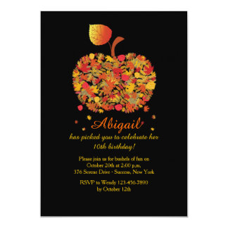 Autumn Apple Invitation