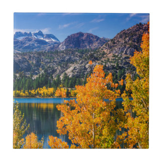 Autumn around June Lake, California Ceramic Tile