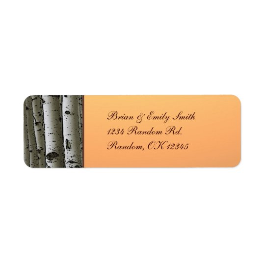 Autumn aspen tree rustic return address labels
